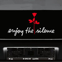 Enjoy the silence + Rose Aufkleber Tattoo die cut Auto Deko Folie Depeche Mode