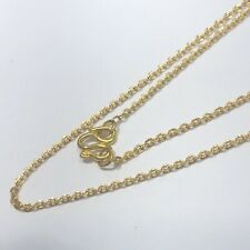 "24 K Solid Yellow Gold Chain Necklace 3.7 Grams. 16"" - Women Baby"