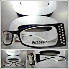 Classy Elegant Contemporary Clear Lens EYE GLASSES Small Bling RX Optical Frame