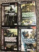 Ps2 Game Lot: Splinter Cell, Ghost Recon, Ghost Recon: Jungle Storm, and ..