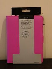 "Tesco Finest Pink Folio Leather Case For Kindle & Kindle Touch 6"" - Brand New"
