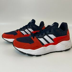 Adidas Boy's Chaos J Trainers Running Shoes Size 4.5 Red/Blue/White EF5309