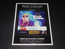 "Flo Rida Hip-Hop Rap Concert 2014 Vegas Matted Event Promo Ad/Art 15""x12"" Rare"
