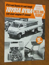 1970 Toyota Dyna Cab Over original double sided Specification sheet
