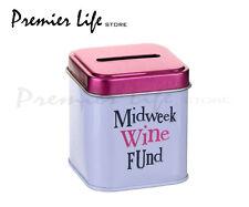 Midweek Wine Fund Money Tin by Bright Side