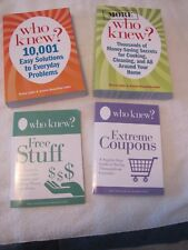 SET of 4 Who Knew? BOOKS:Your Step-By-Step Guide to FREE STUFF - EXTREME COUPONS