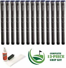 13 x Winn Dri-Tac DriTac Dark Gray Grey Midsize 6DT-DG Golf Grips + Install Kit!