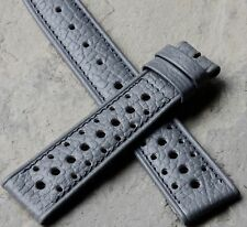 Stunning texture grey vintage watch 19mm speed holes strap 1960s/70s NOS 2 sold