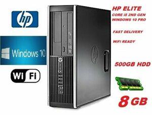 HP PC Core i5 PC COMPUTER DESKTOP 8GB 500GB HDD WIN 10 PRO WiFi EXTREME JOB FAST