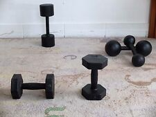 Antik Hantel 2x Kurzhantel je 5kg Eisengewicht Gewicht 50er True Vintage fitness