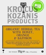 ORGANIC HERBAL TEA WITH HONEY, ORANGE & GREEK RED SAFFRON  - 10 Teabags 18g