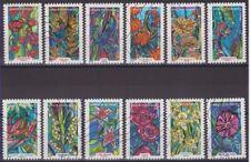 France 2016 : les 12 timbres du Carnet - Fleurs à foison - oblitérés