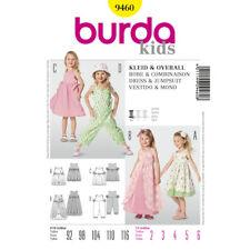 Burda Kids Easy SEWING PATTERN 9460 Toddlers/Girls Dress & Jumpsuit 2-6