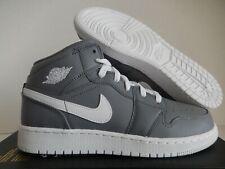 Nike Air Jordan 1 Mid Bg Cool Grey-White Sz 6.5Y-Womens Sz 8 [554725-036]