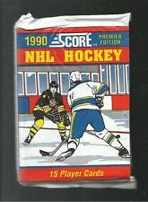 6 1990 Score Hockey Packs-Martin Brodeur rookie,Jaromir Jagr,Jeremy Roenick