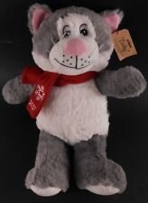 "PetSmart LUCKY 2017 Gray & White 16"" Cat Stuffed Plush Toy for Child or Pet NWT"