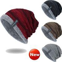 Women Men Knitted Winter Warm Oversized Ski Slouch Hat Cap Baggy Beanies Fashion