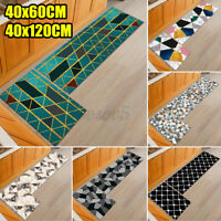 2PCS Home Kitchen Floor Mat Non-slip Runner Anti Fatigue Rug Door Carpets Decor