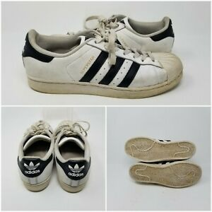 Adidas Originals Superstar Leather Sneakers White Shell Toe Shoes Women Size 9.5