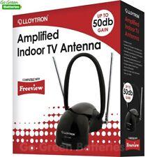Lloytron Amplified Digital TV Indoor Antenna Booster Aerial 50dB Gain FM DAB