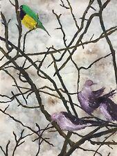 zeitgenössische malerei acryl Tierwelt Vögel Unikat vom Künstler signiert