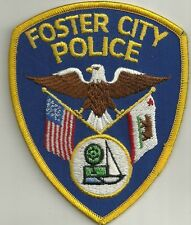 CALIFORNIA  FOSTER  CITY  Police Patch Stoff Polizei Abzeichen KALIFORNIEN