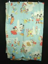 Vintage 70s Mickey Mouse Twin Sheet Flat