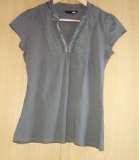 H§M Shirt, Bluse,Gr.S,grau,Stretch