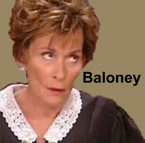 Judge Judy - Baloney Refrigerator Magnet