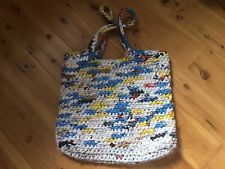 Handmade Crochet Tote Bag Purse Recycled Plastic Shopping Tote Go Green