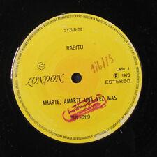 RABITO: Amarte, Amarte Una Vez Mas / Cual Es Tu Nombre 45 (Brazil, promo stamp