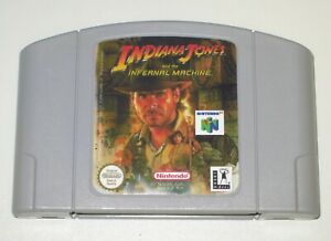 *PAL Version* INDIANA JONES and THE INFERNAL MACHINE Game For Nintendo 64 N64