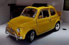 Coche de automodelismo y aeromodelismo de metal blanco Fiat