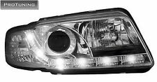LED Car PHARE AVANT AUDI A4 B5 95-98 chrome ANGEL EYES AVANT éclairage phares