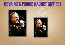 neil diamond Key Ring & Fridge Magnet Set