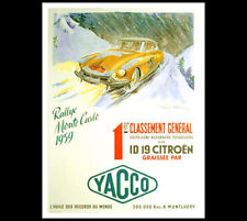 MONTE CARLO RALLY 1959 Citroen ID 19, Yacco Oil Auto Racing POSTER Reprint