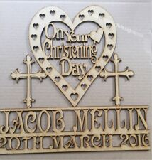 Personalised Christening Plaque 150 x 150mm  Mdf lase rcut