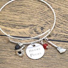 Hocus Pocus Inspired Halloween bracelet . Witch Hat. Witch Broom Crystals.