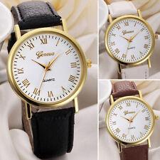 GENEVA Klassisch Damen Quarzuhr Uhren Analog Leder Armbanduhren Watch Gift