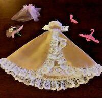 Vintage 1970's Dawn's  ( Tan Wedding Dress-Complete )