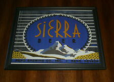 Sierra Beer Framed Color Ad Print - Reno Brewing - Reno, Nevada