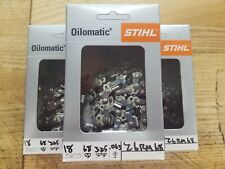 3 Pack,18 inch,Stihl,Oilomatic,chainsaw, chain,MS 250,025,MS251,MS251C,26 RM 68