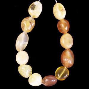 12Pcs/Set Yellow Opal Freeform Pendant Bead M63556