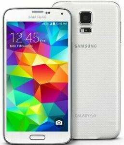 New Original Samsung Galaxy S5 White G900F 4G Unlocked  16 GB Mobile phone