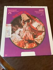 RCA CED SelectaVision VideoDiscs Movie The 10 Commandments Part One Of Two Discs