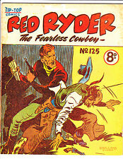 "Red Ryder No 125 1950's -Australian-""Fight  Cover ! """
