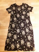 refd67) dress m&s 16.navy floral short sleeve
