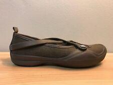 Crocs Brown Slip On Casual Crisscross Rubber Shoes Women's Size 6