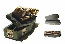 Wood Skull Coffin Box - Unique Wooden Skeleton Handcraft