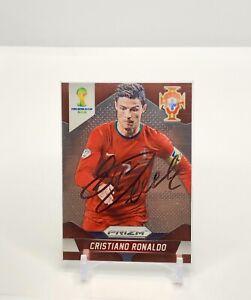 CRISTIANO RONALDO 2014 Panini Prizm World Cup Auto PORTUGAL #161 RARE